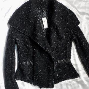 NWT Ann Taylor Knit XS Cropped Peplum Sweater